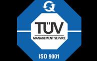Wir sind TÜV-zertifiziert nach ISO 9001