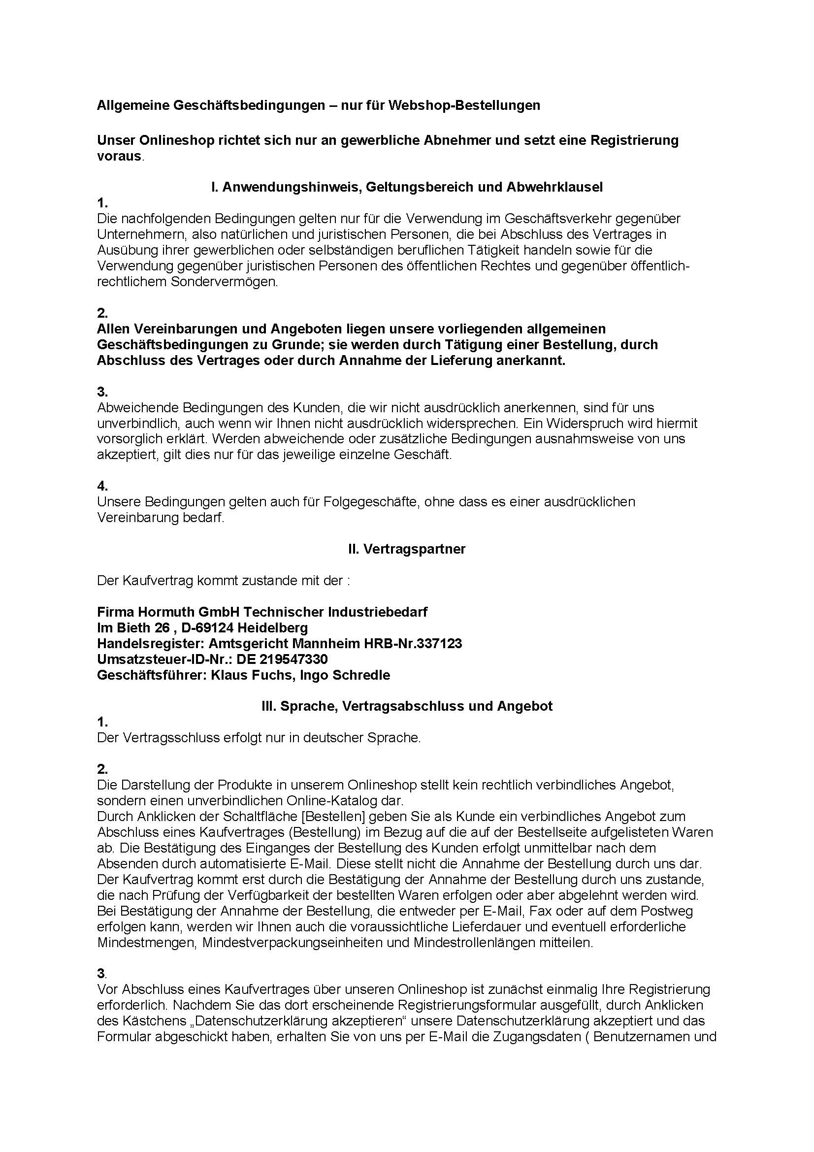 Hormuth-Verkaufsbedingungen-Webshopbestellungen
