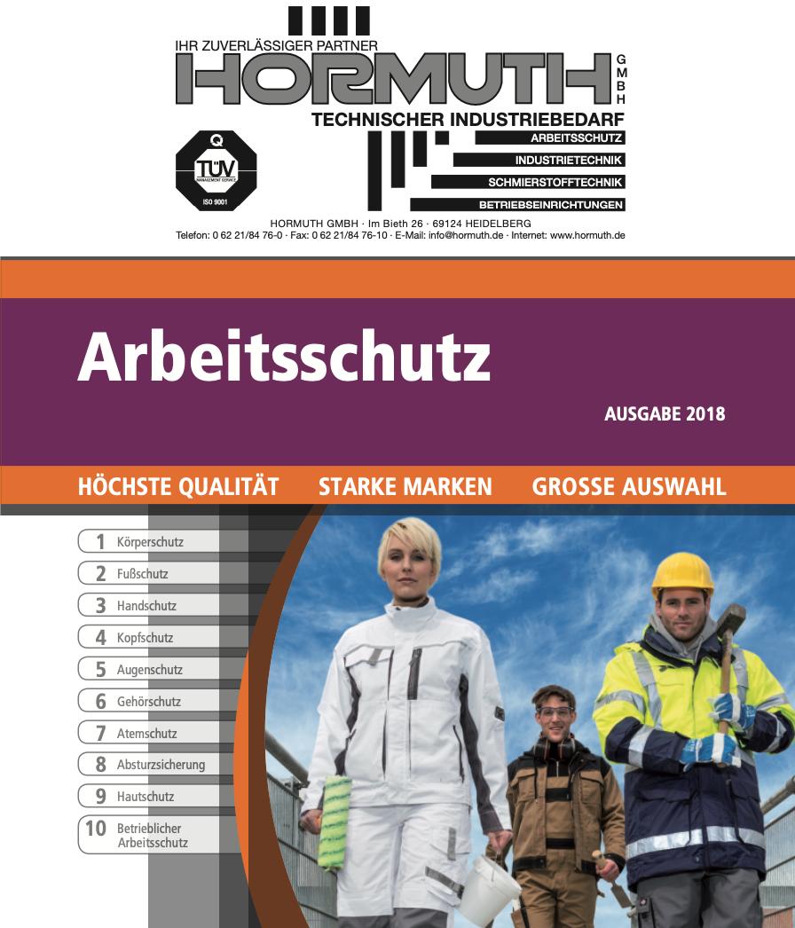 Hormuth_Katalog_Arbeitsschutz_2018_cover